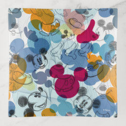 Glass Tray with Mickey Mouse Patterns design