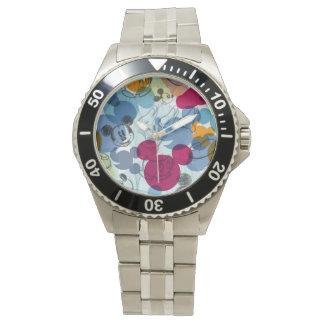 Mickey & Friends   Mouse Head Sketch Pattern Wrist Watch