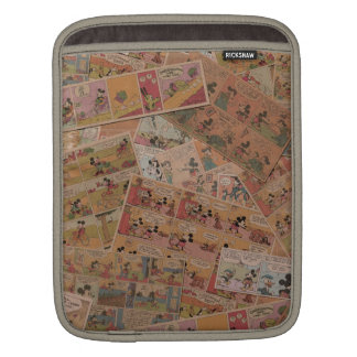 Mickey & Friends | Retro Colored Comic Strip iPad Sleeve