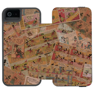 Mickey & Friends | Retro Colored Comic Strip Wallet Case For iPhone SE/5/5s