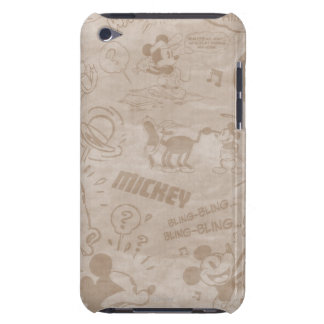Mickey & Friends | Retro Faded Strip Barely There iPod Case