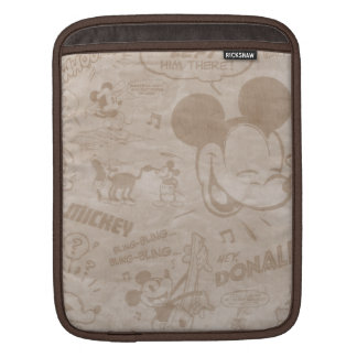 Mickey & Friends | Retro Faded Strip Sleeve For iPads