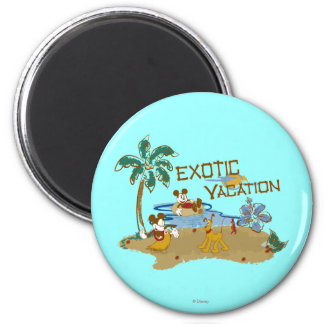 Mickey & Friends | Vacation 2 Inch Round Magnet
