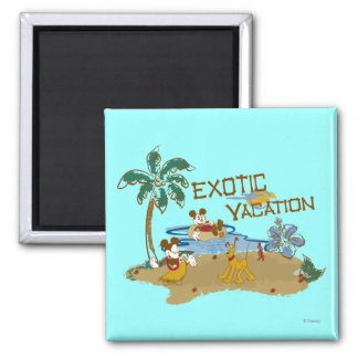 Mickey & Friends | Vacation 2 Inch Square Magnet