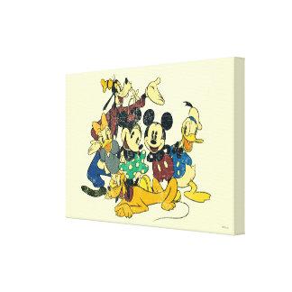 Mickey & Friends | Vintage Hug Canvas Print