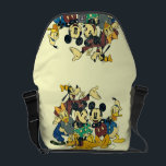 "Mickey &amp; Friends | Vintage Hug Courier Bag<br><div class=""desc"">Multiple Characters</div>"