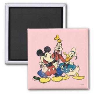 Mickey & Friends | Vintage Mickey, Goofy, Donald Magnet
