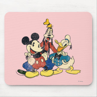 Mickey & Friends | Vintage Mickey, Goofy, Donald Mouse Pad