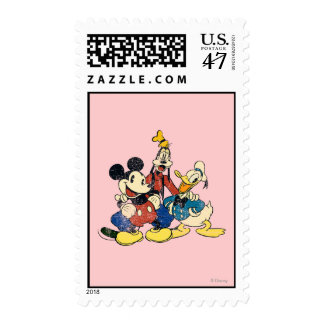 Mickey & Friends | Vintage Mickey, Goofy, Donald Postage
