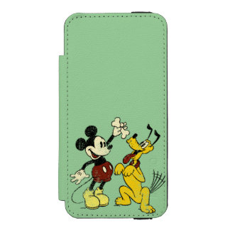 Mickey & Friends | Vintage Mickey & Pluto iPhone SE/5/5s Wallet Case
