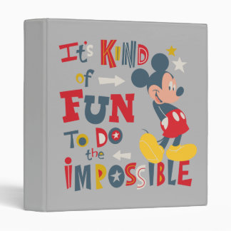 Mickey   Fun To Do The Impossible 2 Binder