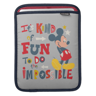 Mickey | Fun To Do The Impossible 2 iPad Sleeve