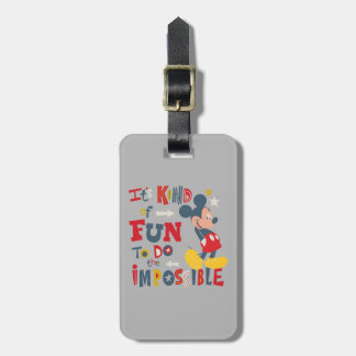 Mickey | Fun To Do The Impossible 2 Luggage Tag