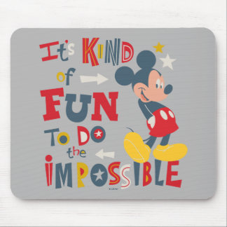 Mickey | Fun To Do The Impossible 2 Mouse Pad