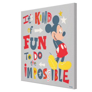 Mickey | Fun To Do The Impossible Canvas Print