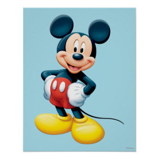 Mickey   Hands on Hips Poster