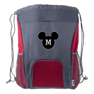 Mickey Head Icon - Monogram Drawstring Backpack