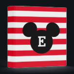 """Mickey Head Silhouette Striped Pattern 
