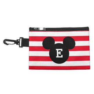 Mickey Head Silhouette Striped Pattern   Monogram Accessories Bags