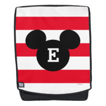 Mickey Head Silhouette Striped Pattern | Monogram Backpack
