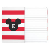 Mickey Head Silhouette Striped Pattern | Monogram Journal
