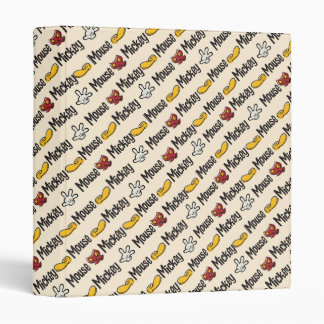 Mickey Icon Pattern 3 Ring Binders