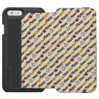 Mickey Icon Pattern Incipio Watson™ iPhone 6 Wallet Case