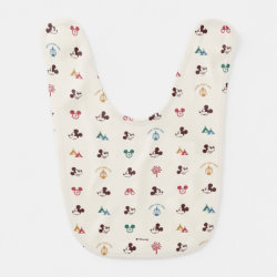 Baby Bib with Mickey Mouse Patterns design