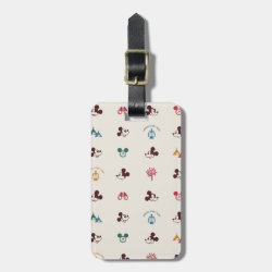 Small Luggage Tag with leather strap with Mickey Mouse Patterns design
