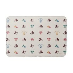 Medium Bath Mat with Mickey Mouse Patterns design