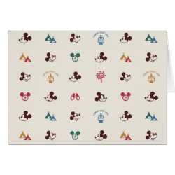 Greeting Card with Mickey Mouse Patterns design