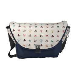 Rickshaw Medium Zero Messenger Bag with Mickey Mouse Patterns design