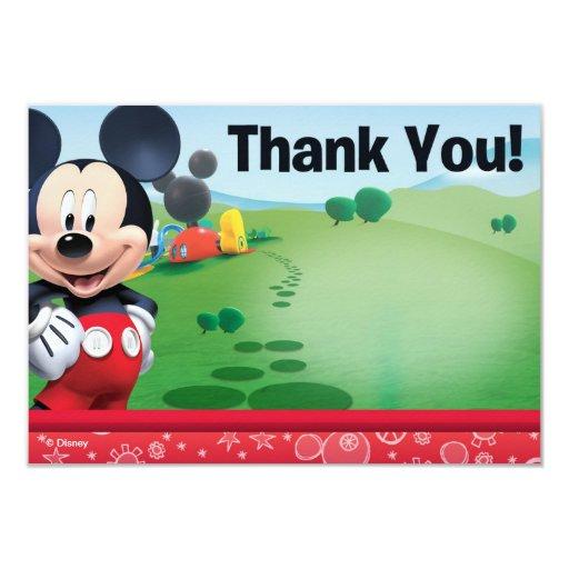"""Mickey le agradece las tarjetas invitación 3.5"""" x 5"""""""