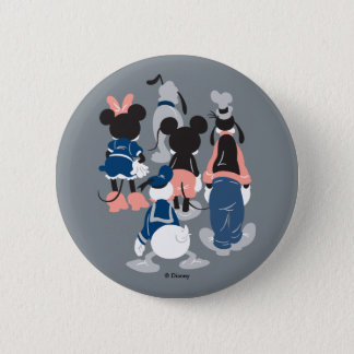 Mickey | Mickey Friend Turns Pinback Button