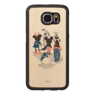 Mickey | Mickey Friend Turns Wood Phone Case