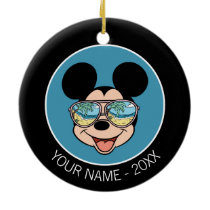 Mickey | Mickey Tropical Sunglasses Add Your Name Ceramic Ornament