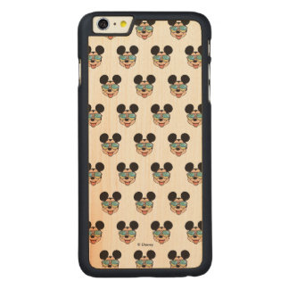Mickey | Mickey Tropical Sunglasses Carved Maple iPhone 6 Plus Case