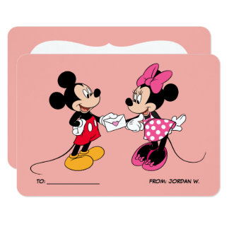 Mickey & Minnie | Be Mine Card