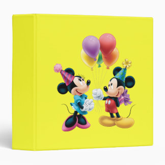 Mickey & Minnie | Birthday 3 Ring Binder