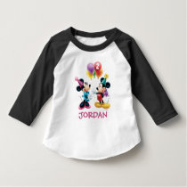 Mickey & Minnie | Birthday Balloons - Name & Age T-Shirt