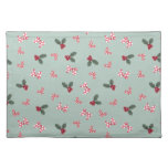 Mickey & Minnie | Christmas Holly Pattern Cloth Placemat