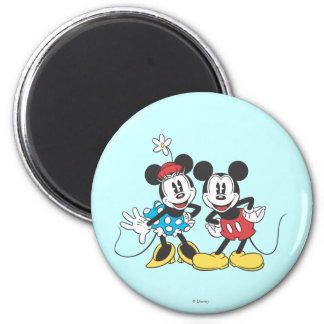 Mickey & Minnie | Classic Pair 2 Inch Round Magnet