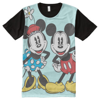 Mickey & Minnie | Classic Pair All-Over-Print T-Shirt