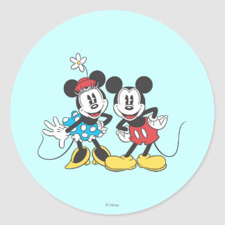 Mickey & Minnie | Classic Pair Classic Round Sticker