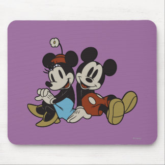 Mickey & Minnie | Classic Pair Sitting Mouse Pad