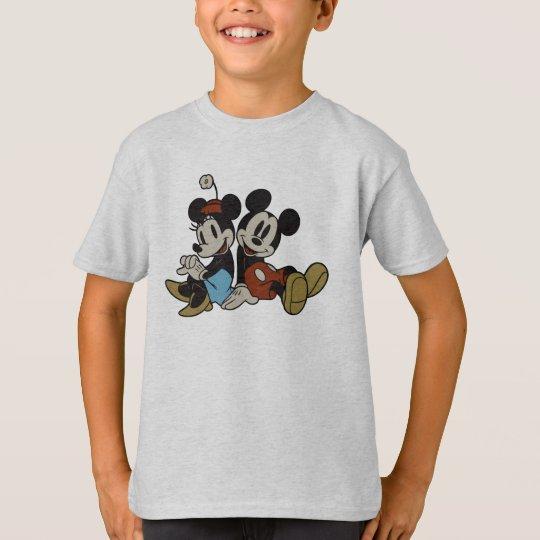 Mickey & Minnie | Classic Pair Sitting T-Shirt