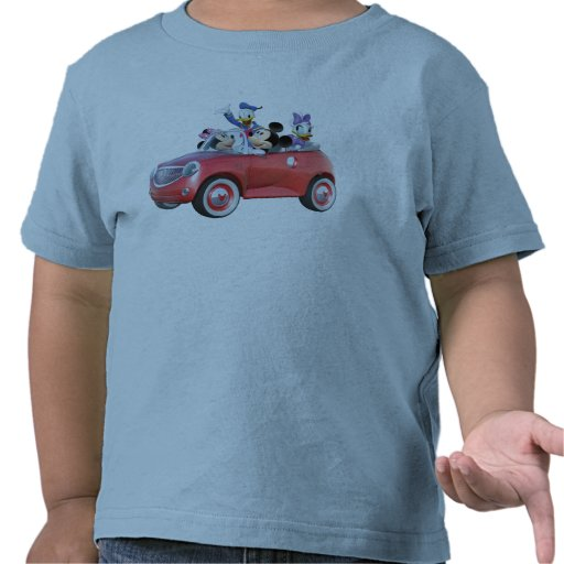 Mickey, Minnie, Donald, y margarita en coche Camisetas