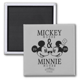 Mickey & Minnie | Est. 1928 2 Inch Square Magnet