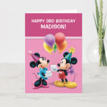 Mickey & Minnie | Folded Birthday Card