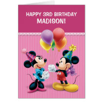 Mickey & Minnie | Folded Birthday Card